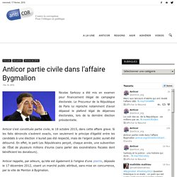 Anticor partie civile dans l'affaire BygmalionANTICOR