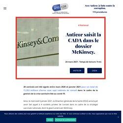 24 mars 2021 Anticor saisit la CADA dans le dossier McKinsey.