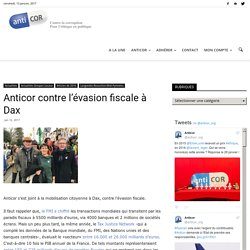 Anticor contre l'évasion fiscale à Dax