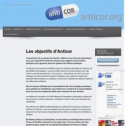 Les objectifs d'Anticor