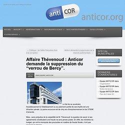 """Affaire Thévenoud : Anticor demande la suppression du """"verrou de Bercy""""."""