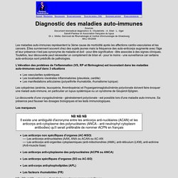 auto-anticorps maladies auto-immunes