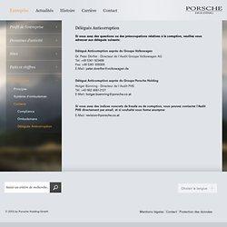 Délégués Anticorruption - Contacts - Compliance - Entreprise - Porsche Holding
