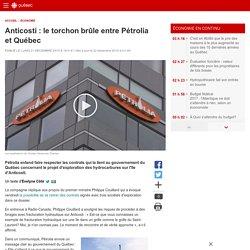 Anticosti: le torchon brûle entre Pétrolia et Québec