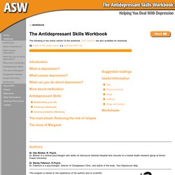 Antidepressant Skills Workbook - Table of Contents