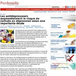 Les antidépresseurs augmenteraient le risque de rechute en dépression selon une importante étude