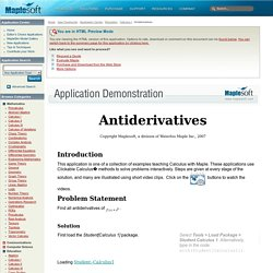 Antiderivatives - Application Center