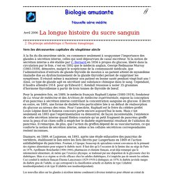 biologie amusante : La longue histoire de la glycémie 2. Du principe antidiabétique à l'hormone transgénique