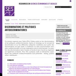 Discriminations et politiques antidiscriminatoires