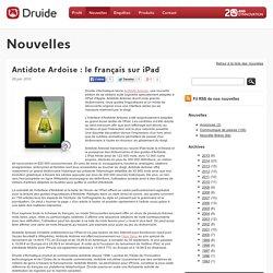 Antidote Ardoise : le français sur iPad