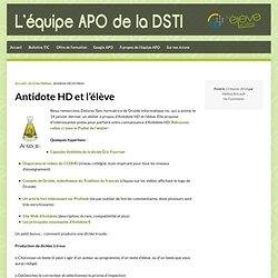 Antidote HD et l'élève