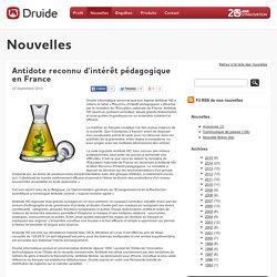 Antidote reconnu d'intérêt pédagogique en France