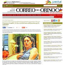 Francesca Gargallo: No hay sociedad más antifemenina que la capitalista