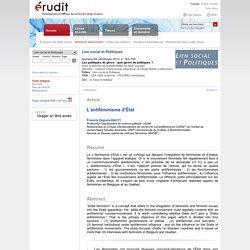 Lien social et Politiques n69 2013, p.163-180