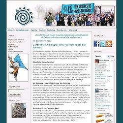 L'antiféminisme aggrave les violences faites aux femmes