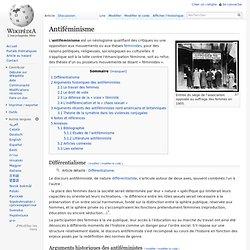 Antiféminisme