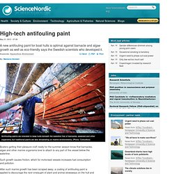 High-tech antifouling paint