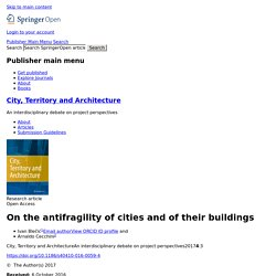 On the antifragility of cities and of their buildings