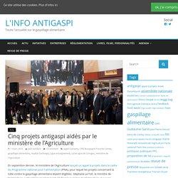 LINFOANGITASPI 01/03/16 Cinq projets antigaspi aidés par le ministère de l'agriculture