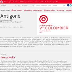 Antigone de Jean Anouilh (site de l'académie française)
