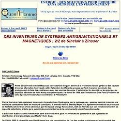 DES INVENTEURS DE SYSTEMES ANTIGRAVITATIONNELS ET MAGNETIQUES 2/2