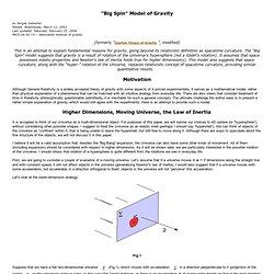 "Big Spin"" Model of Gravity"