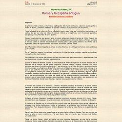Roma y la España antigua / Ernesto Giménez Caballero / 18 enero 1934