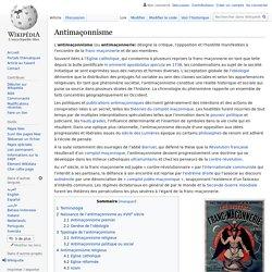 Antimaçonnisme