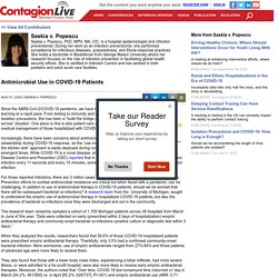 CONTAGIONLIVE 31/08/20 Antimicrobial Use in COVID-19 Patients