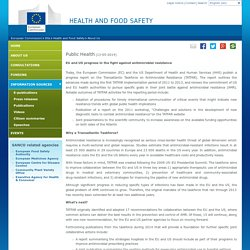 EUROPE 13/05/14 EU and US progress in the fight against antimicrobial resistance