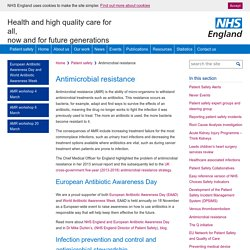 Patient safety » Antimicrobial resistance