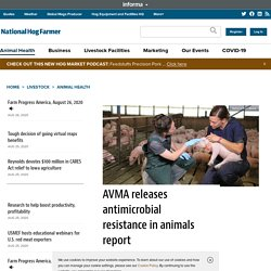 NATIONAL HOG FARMER 25/08/20 AVMA releases antimicrobial resistance in animals report