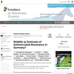 FRONT. VET. SCI. 27/01/21 Wildlife as Sentinels of Antimicrobial Resistance in Germany?