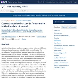 IRISH VETERINARY JOURNAL 26/06/20 Current antimicrobial use in farm animals in the Republic of Ireland