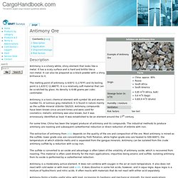 Antimony Ore - Cargo Handbook - the world's largest cargo transport guidelines website