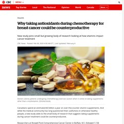 Why taking antioxidants during chemotherapy for breast cancer could be counterproductive