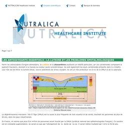 Antioxydants : la Lutéine - Nutralica