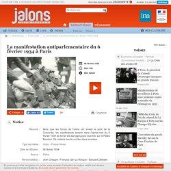 La manifestation antiparlementaire du 6 février 1934 à Paris