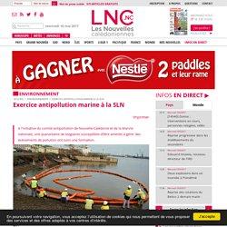 Exercice antipollution marine à la SLN