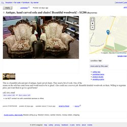 Antique, hand carved sofa and chairs! Beautiful woodwork!