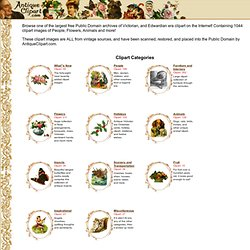Antique Clipart - Free Public Domain Clipart