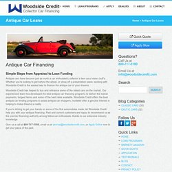 Antique Car Financing & Loans Online by Woodside Credit