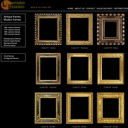 Antique frames - Laboratorio Federici since 1905