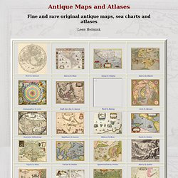 Antique Maps, Old maps, Vintage Maps, Antique Atlases, Old Atlases - StumbleUpon
