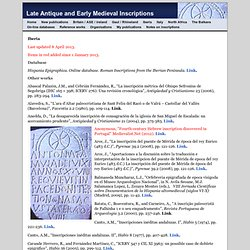 Iberia - Late Antique and Early Medieval Inscriptions