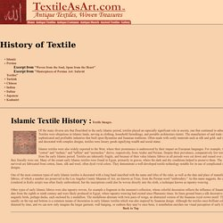 Antique Textile History