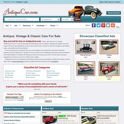 Antique cars, Vintage cars and Classic cars for sale