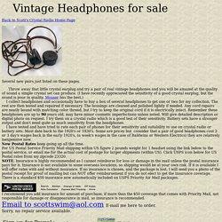 Antique Vintage Headphones For Sale