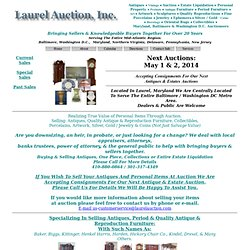 Antiques, Furniture & Estate Items: Laurel Auction, Mary