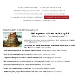 EPI LANGUES et CULTURES de L'ANTIQUITE - EDUCATION NATIONALE